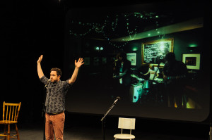 Novelist and playwright, Alan Bissett, regales the audience with tales of his epic tour of the Highlands earlier this year.